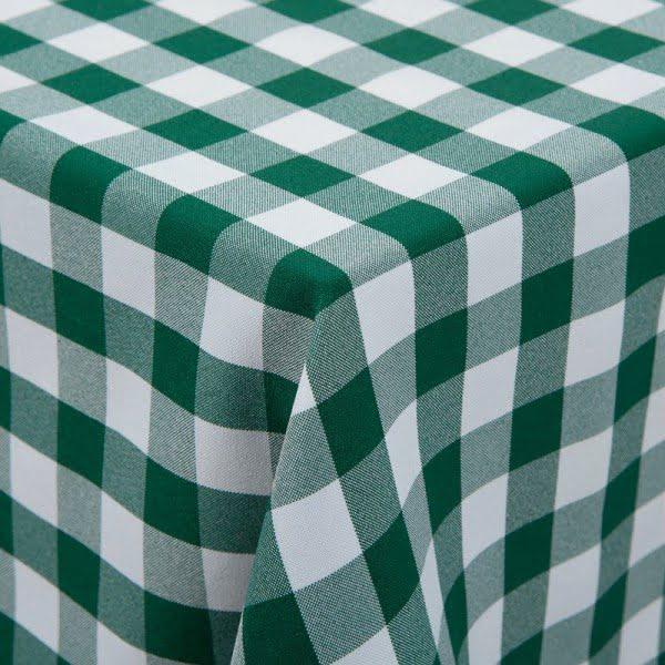 Kockás abrosz, kockás táblaabrosz, kockás teritő zöld fehér kockás abrosz 140*140 cm