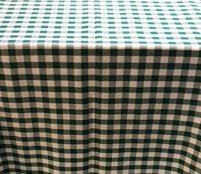 Kockás abrosz, kockás táblaabrosz, kockás teritő zöld fehér kockás abrosz 140*140 cm 0