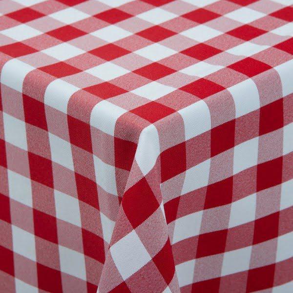 Kockás abrosz, kockás táblaabrosz, kockás teritő piros fehér kockás abrosz 140*140 cm 0