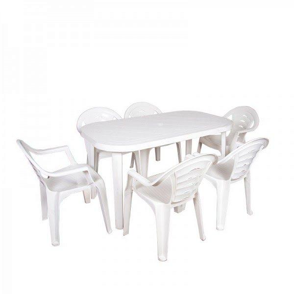 Flair garnitúra, műanyag garnitúra, kerti garnitúra (1 asztal + 6 szék) 0