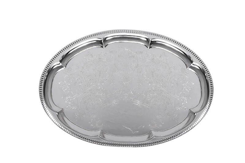 Süteményes tálca ovális, ovális ezüst tálcs