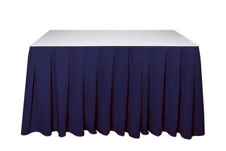 Kasír, asztalszoknya, rakott szoknya kék színű 5m