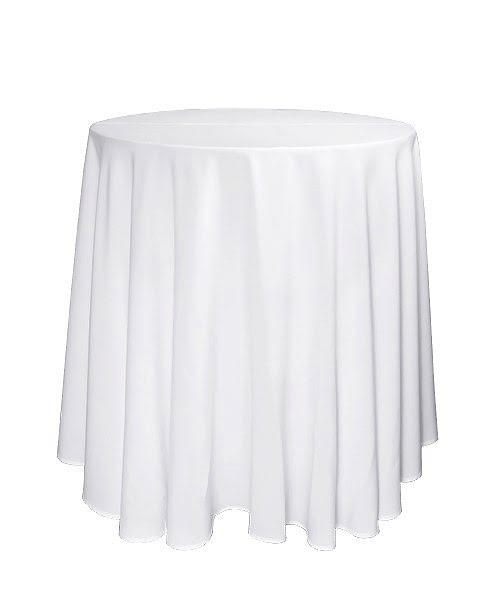 Könyöklő abrosz, koktélasztal teritő, körabrosz könyöklőre 290 cm fehér
