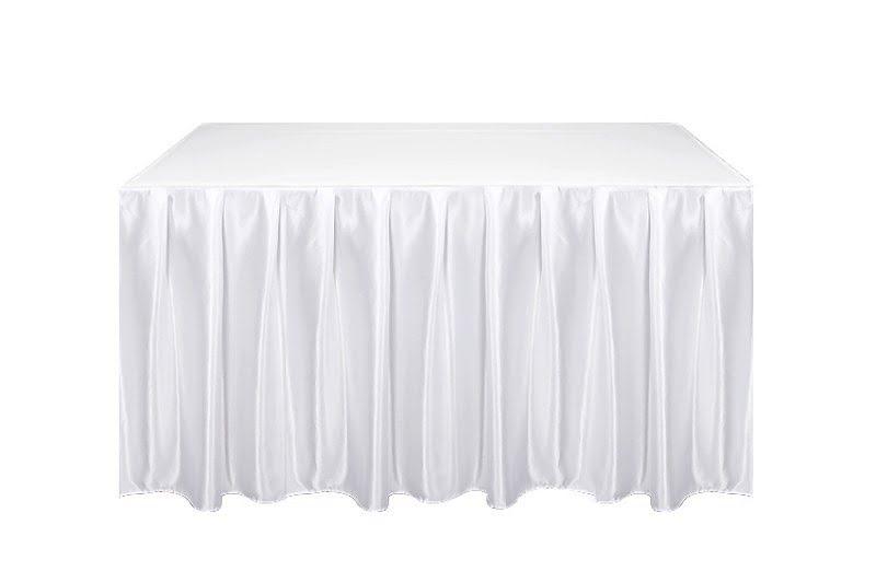Kasír, asztalszoknya, rakott szoknya fehér színű 5m