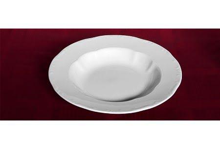 Zsolnay mélytányér, Zsolnay leveses tányér