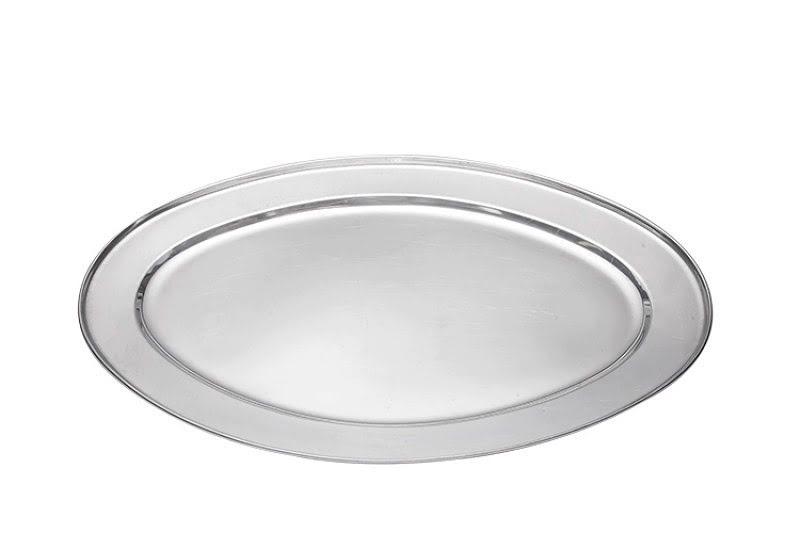 Sültes tál 8 személyes, ovális fém 50 cm