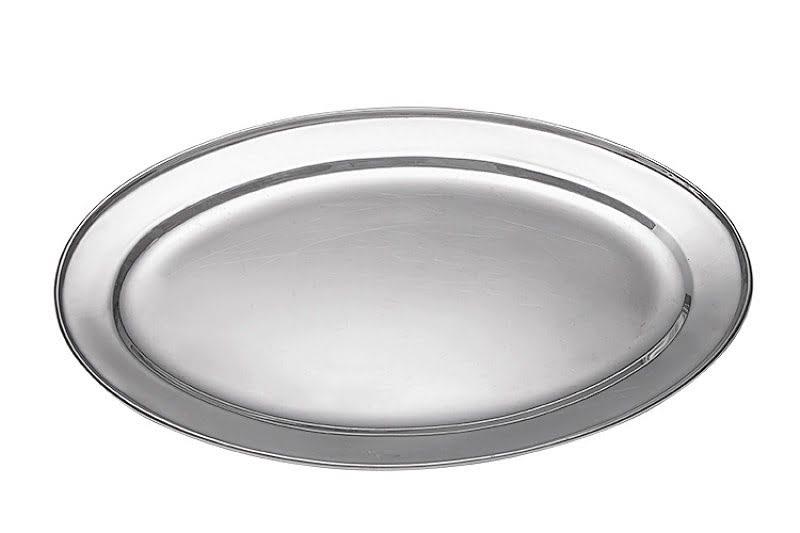 Sültes tál 10 személyes, ovális fém 60 cm