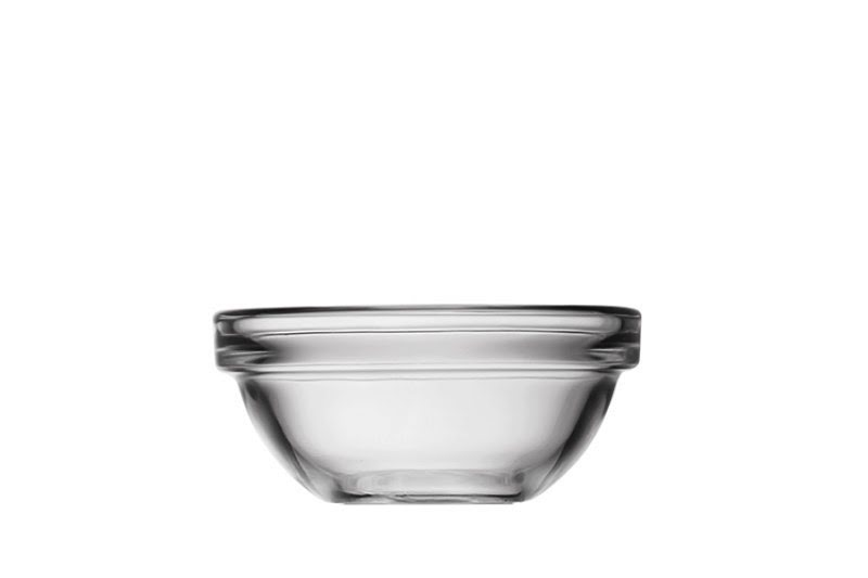 Fűszervajas tálka, üveg tál 8 cm