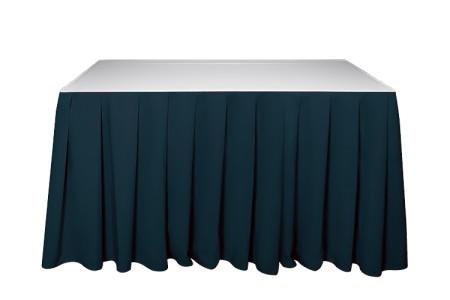 Kasír, asztalszoknya, rakott szoknya zöld színű 5m