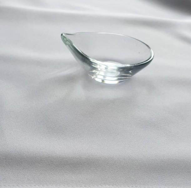 Finger food kínáló kerek előételes üveg tálka  4*10 Ø 0