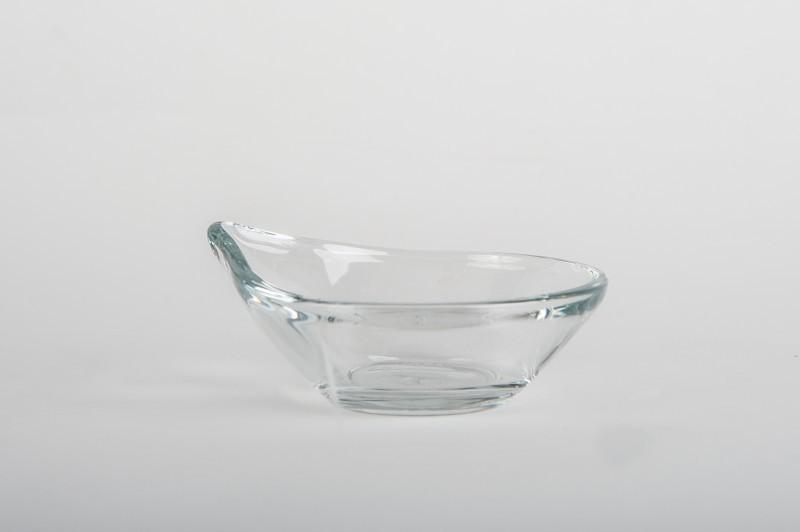 Finger food kínáló kerek előételes üveg tálka  4*10 Ø 1