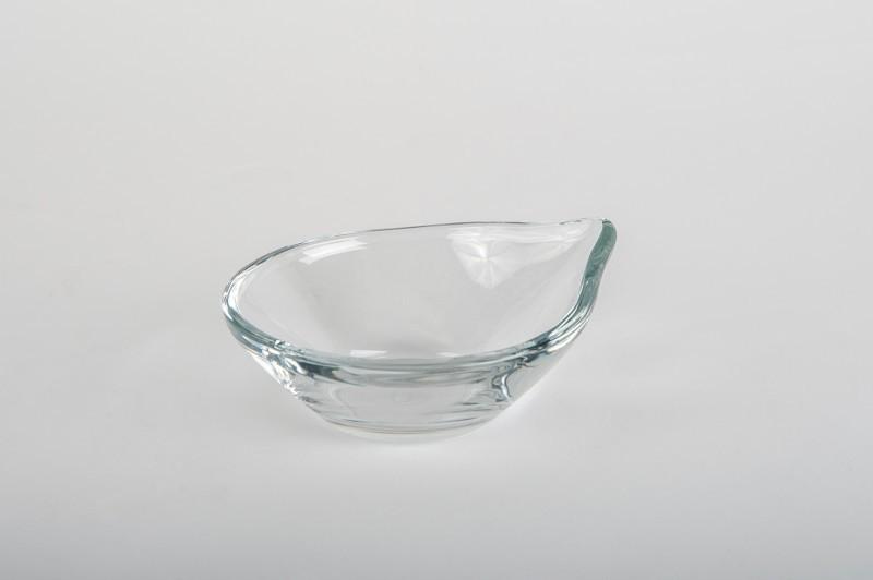 Finger food kínáló kerek előételes üveg tálka  4*10 Ø 2