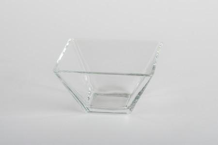Finger food kínáló üveg tálka 8*8