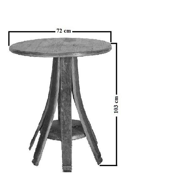 Boros hordó könyöklő asztal 0