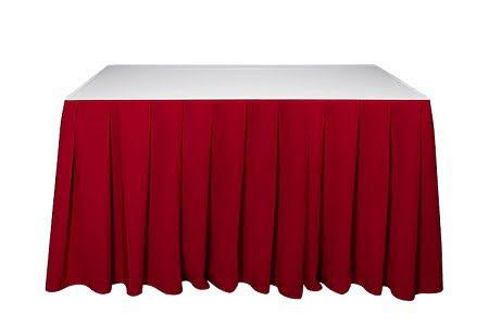 Kasír, asztalszoknya, rakott szoknya bordó színű 5m