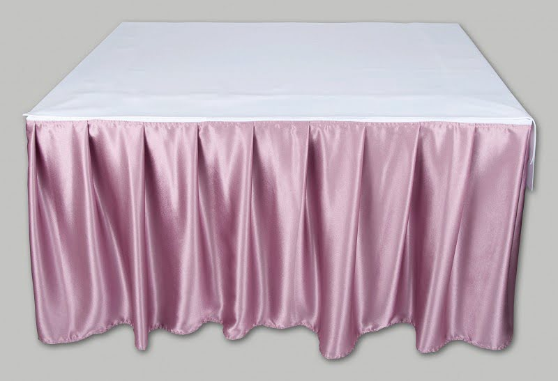 Kasír, asztalszoknya, rakott szoknya mályva színű 5 m fényes