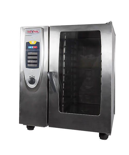 Kombi gőzpároló, kombi pároló, Rational sütő, Légkeveréses sütő, 10 tálcás, 19KW, 380V, 32A