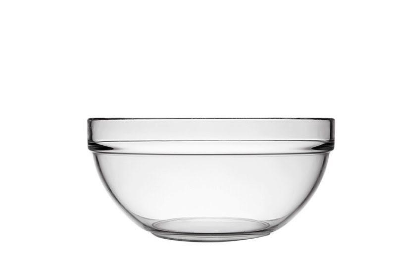 Kompótos tálka üveg, üveg tál 14 cm