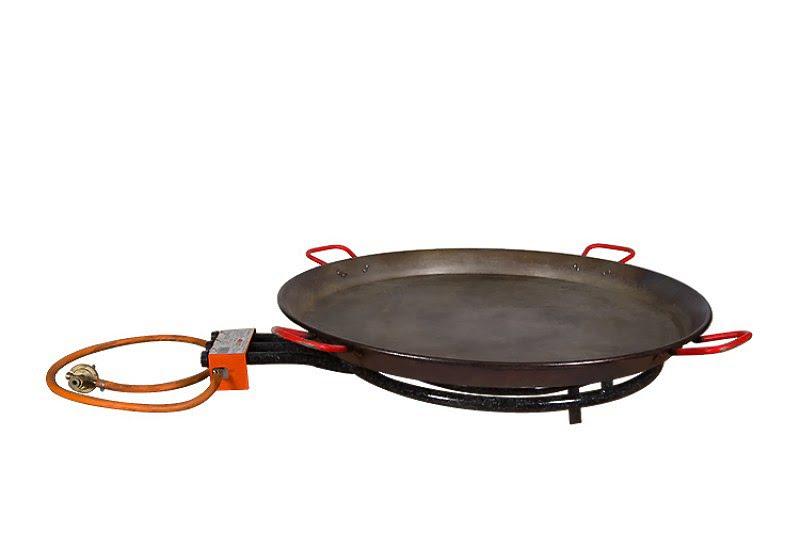 Spanyoltepsi + gázégő, Paella sütő 70 cm