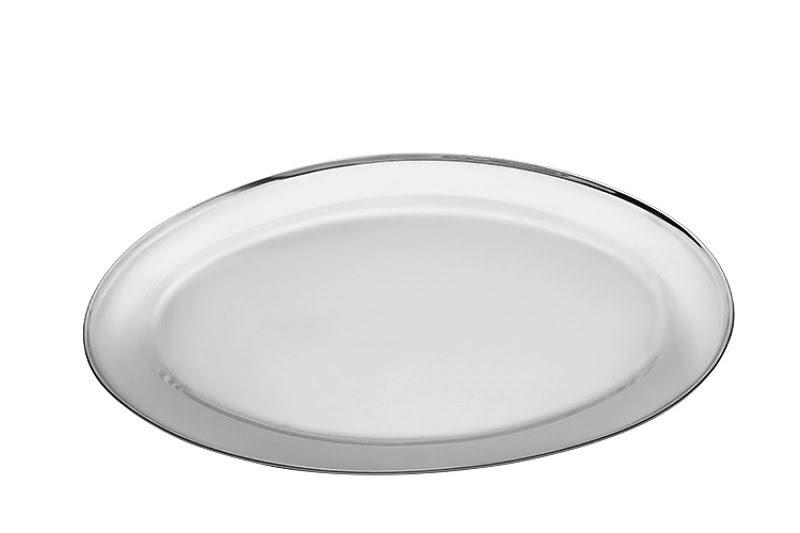 Sültes tál 4 személyes ovális fém