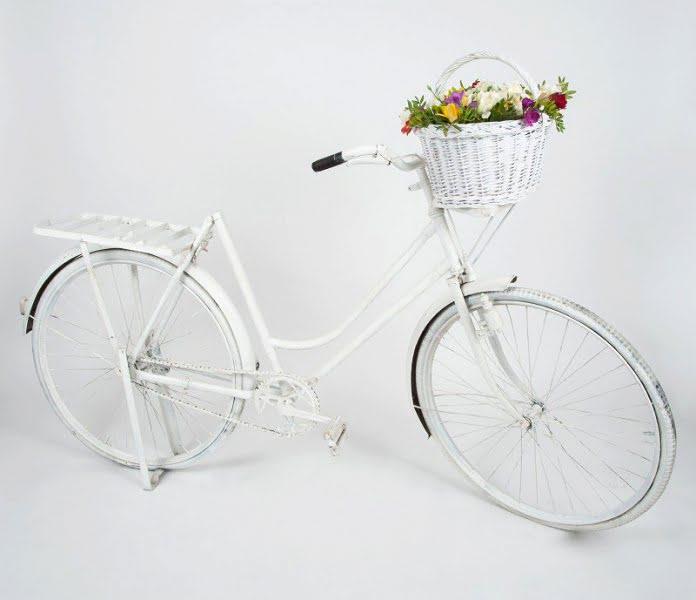 Kerékpár vintage fehér
