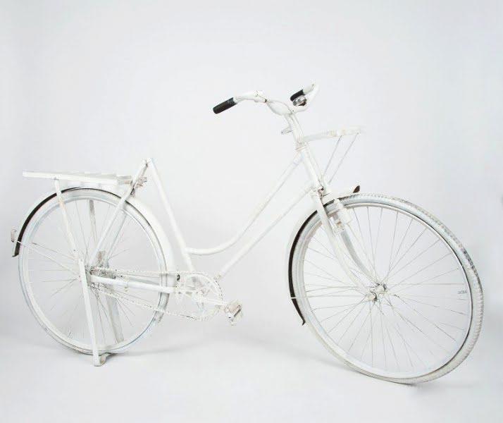 Kerékpár vintage fehér 0